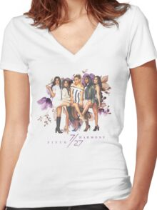 Fifth Harmony - 7/27 (Blossom) Women's Fitted V-Neck T-Shirt