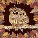 Owlways Love You by Lisa Frances Judd~QuirkyHappyArt