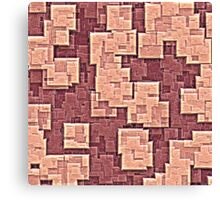 pink blocks Canvas Print