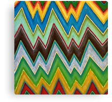 Chevron (Square) Canvas Print