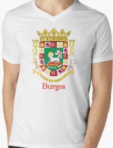 Burgos Shield of Puerto Rico Mens V-Neck T-Shirt