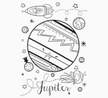 Jupiter and the Outer Space Jellyfish by marcsbasket