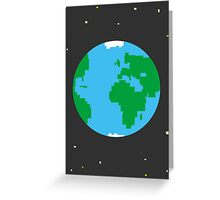 Earth pixel Greeting Card