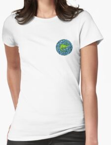 Water Dinosaur Womens Fitted T-Shirt
