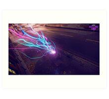 Infamous Second Son Neon Art Print