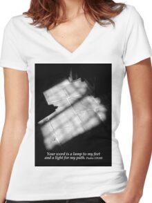 The Light Women's Fitted V-Neck T-Shirt
