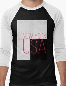 NEW YORK USA Men's Baseball ¾ T-Shirt