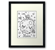 Moon and the Mouse Framed Print