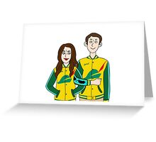 Jacket Twins Greeting Card