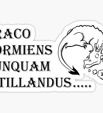 Never tickle dragons... Sticker