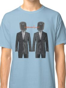 Twin Grey Scale Talking Mikes Classic T-Shirt