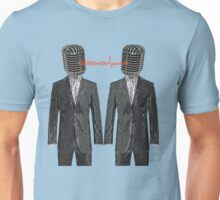 Twin Grey Scale Talking Mikes Unisex T-Shirt