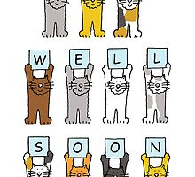 Cats saying 'Get well soon'. by KateTaylor