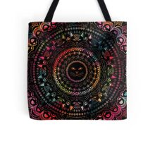 Rainbow Kitty Cat Mandala Tote Bag