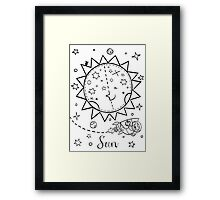 Sun and the Rocketing Sloth Framed Print