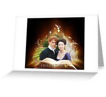 Outlander book/Jamie & Claire Greeting Card