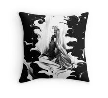 the girl Throw Pillow