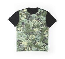 Jungle Floral - Charcoal Graphic T-Shirt