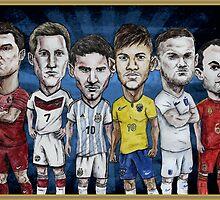Football Stars of 2014 by Ben Farr