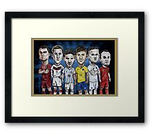 Football Stars of 2014 Framed Print