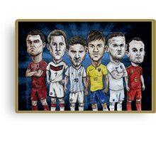 Football Stars of 2014 Canvas Print
