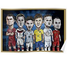 Football Stars of 2014 Poster