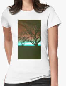 ViewsFromTheAether Tree Silhouette Womens Fitted T-Shirt