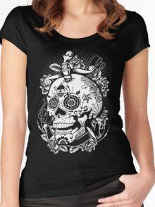 skull of doom Women's Fitted Scoop T-Shirt