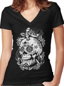 skull of doom Women's Fitted V-Neck T-Shirt