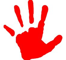Red Handprint by kwg2200