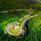 Aerial shot of the Nürburgring Nordschleife Caracciolla Karussell by BridgeToGantry