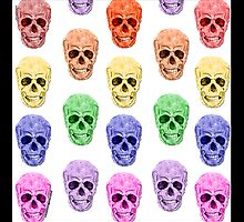 Skulls Rainbow by amanda metalcat