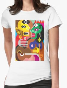 abstracto Womens Fitted T-Shirt