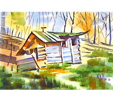 Log Cabin in the Wilderness Photographic Print
