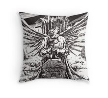 The Graveyard Book, 'The Ghoul Gate' - ink Throw Pillow