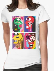 Abstracto 2 Womens Fitted T-Shirt
