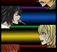 Kira, L, Mello, Matt by CDM3112