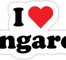 I Heart Love Kangaroos Sticker