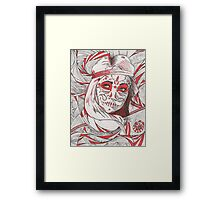 Day of the Dead in Red Framed Print