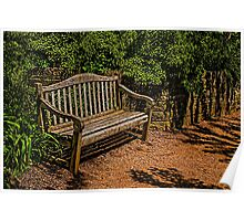 Bench in the Gardens Poster