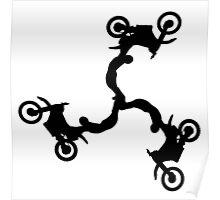 Motocross Triskele Poster