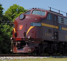 Pennsylvania Railroad Unit No. 5809 by Steve Mezardjian