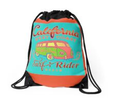 California Surf Rider Beach - Boogie Burn Burns it up! Drawstring Bag