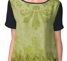 Green Embellishments Chiffon Top
