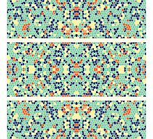 Colorful Blue Green Orange Abstract Funky Mosaic Photographic Print
