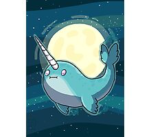 Space Narwhal Photographic Print
