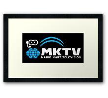 Mario Kart TV (White) Framed Print