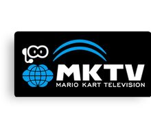 Mario Kart TV (White) Canvas Print