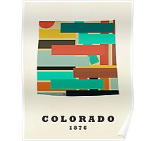Colorado state map Poster