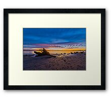 Desolate Sunset Framed Print